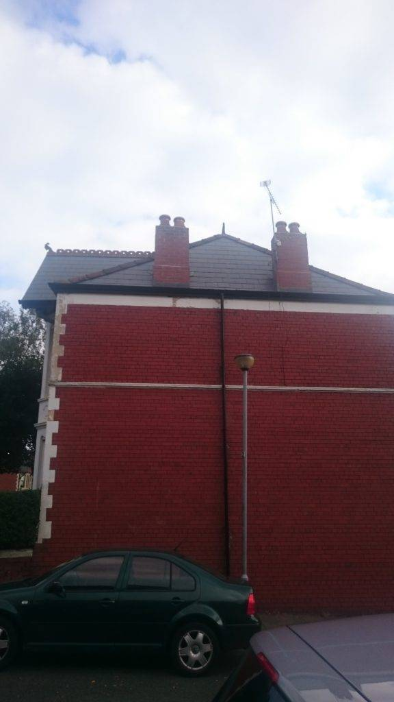 repairing chimney on house