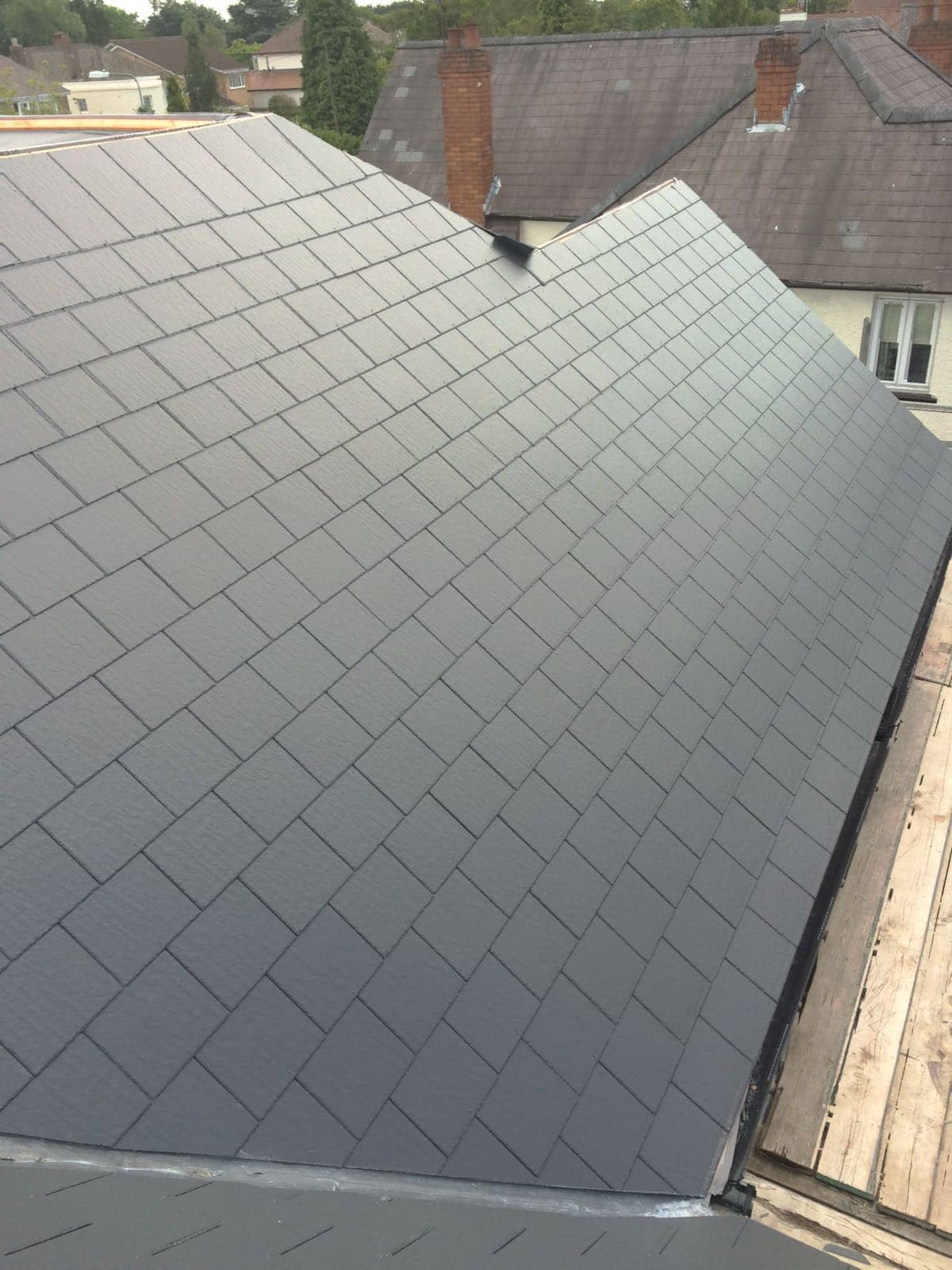 slate roof completed