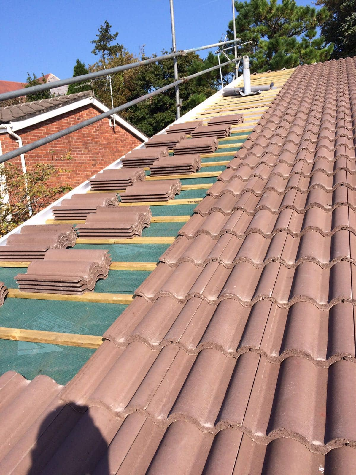 tiled roof install