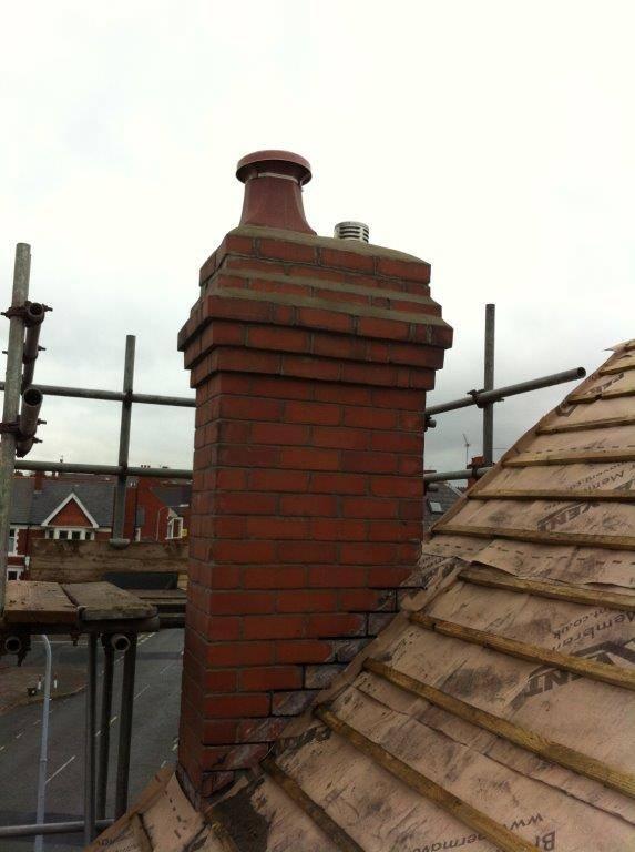 brockwork repair on chimney