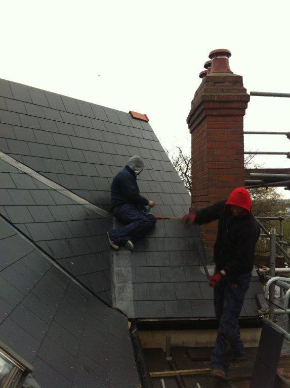 completed slate roof