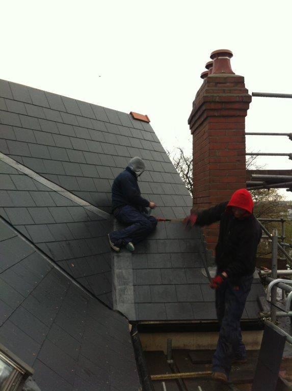 slate roof install