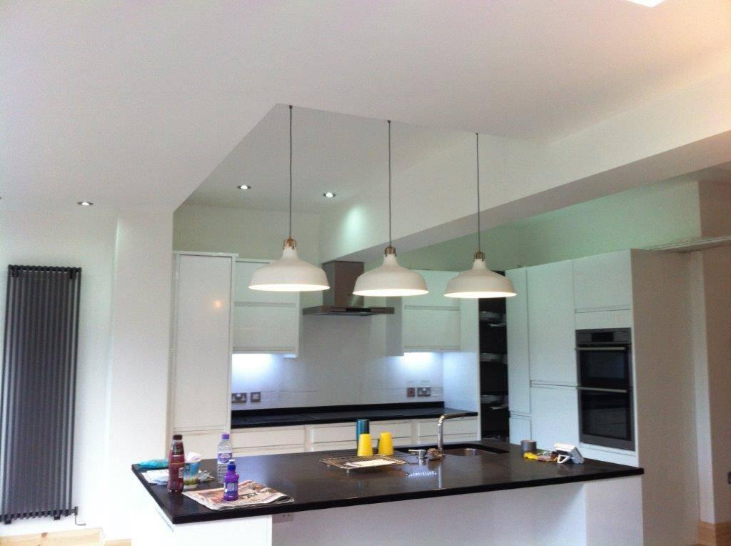 white kitchen refurbish