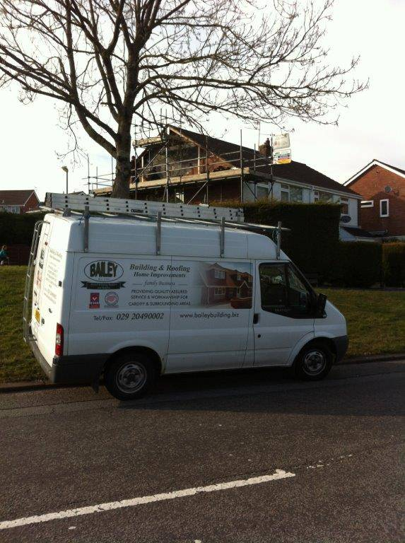 baily building & roofing cardiff van