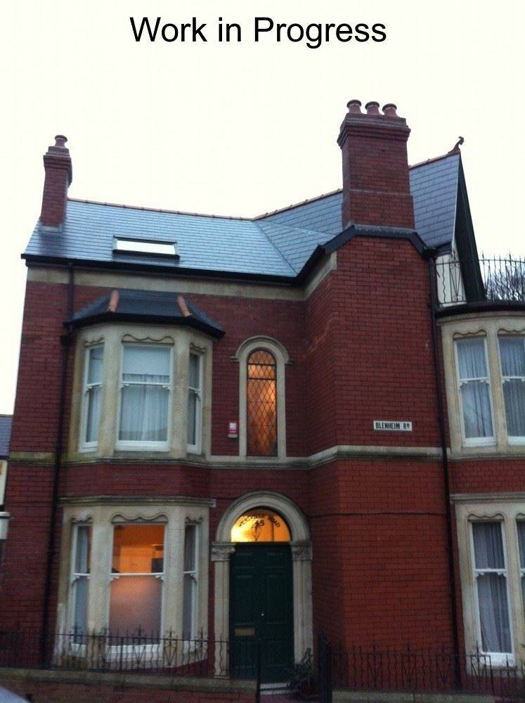 red brick property with work in progress