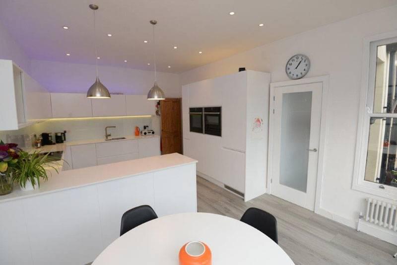 new modern white kitchen area
