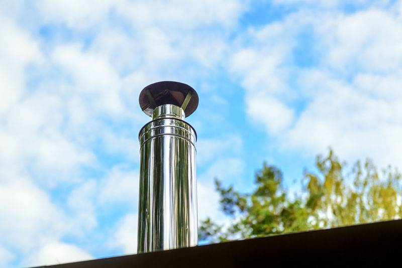 new stainless steel chimney pot
