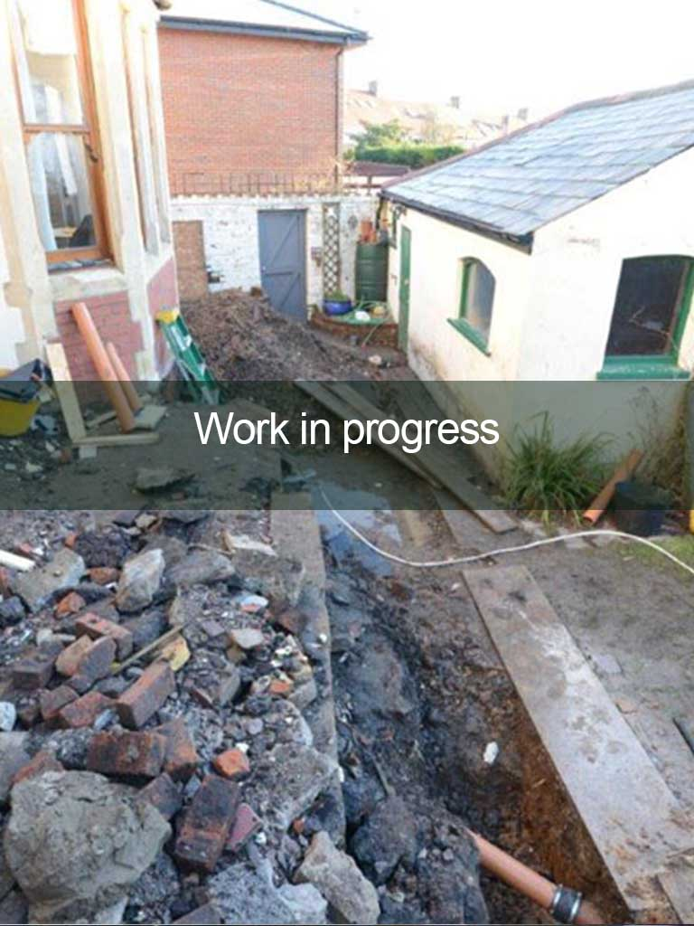 building work at residential home in progress
