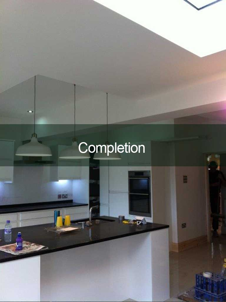 completed kitchen extension