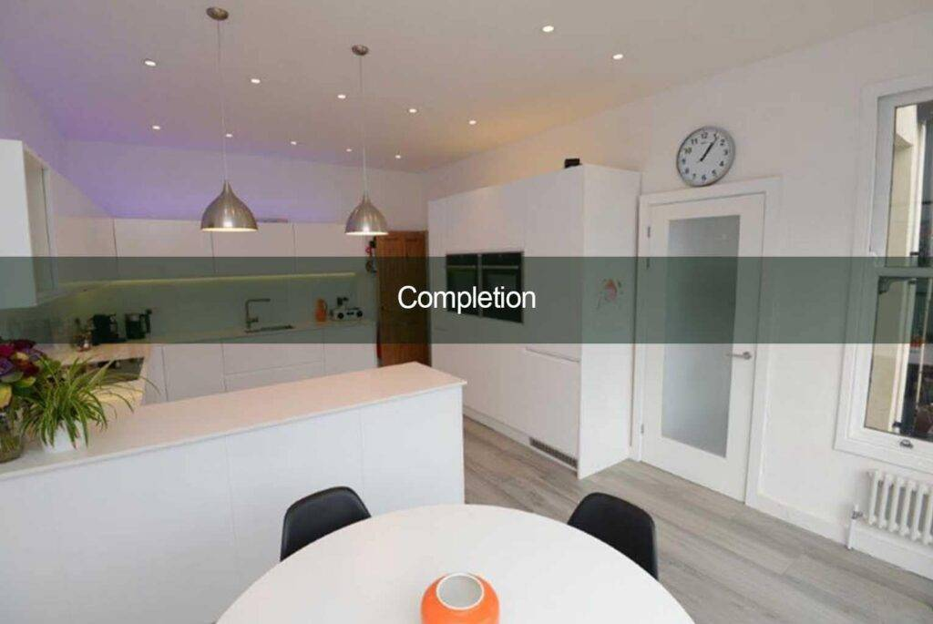 completion of kitchen