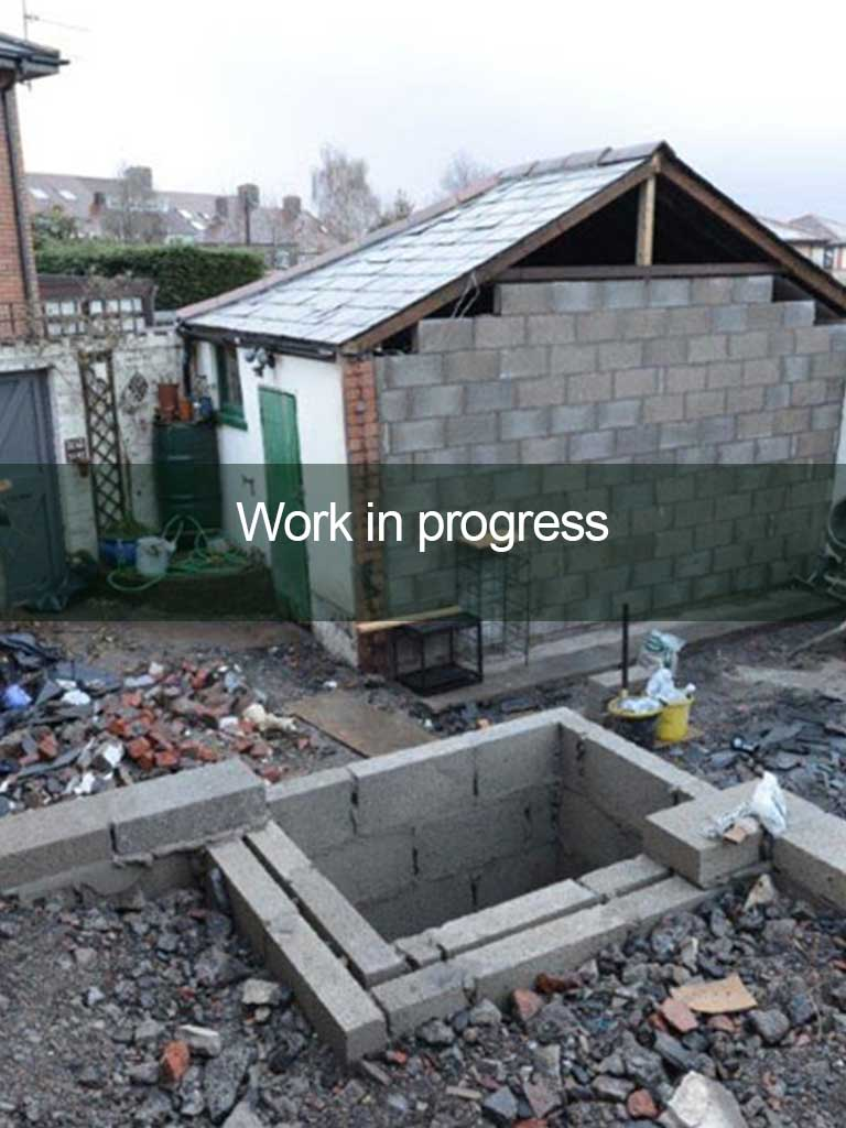 conversion works in progress