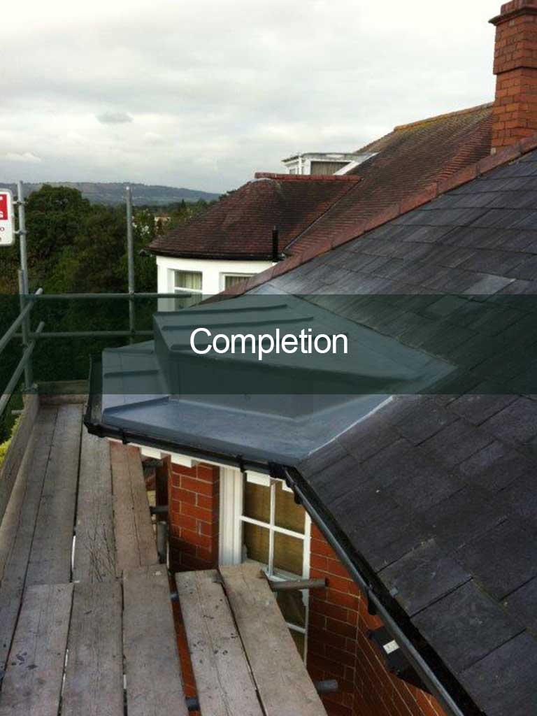 flat roof completion