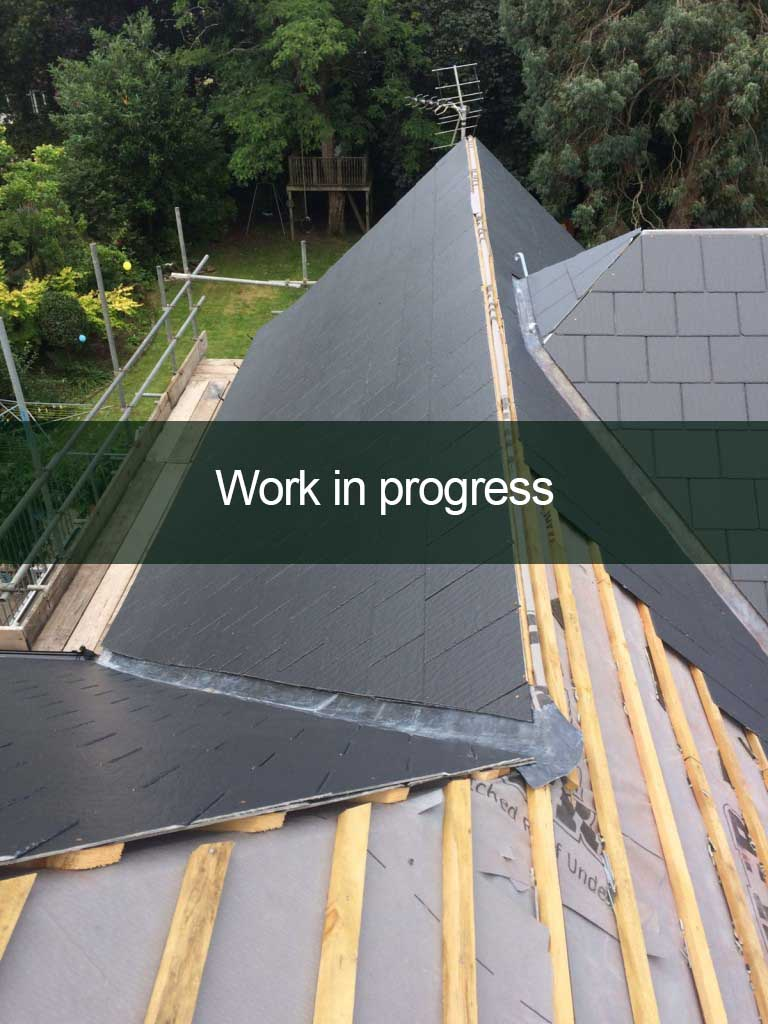 new roof work in progress